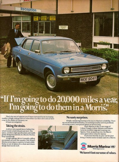 morris marina advert