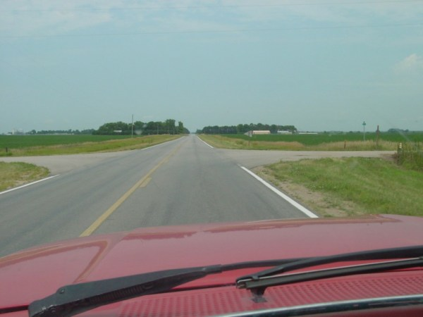 On a rural Nebraska road, looking for a lake