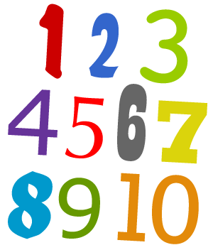 numbers -1-10