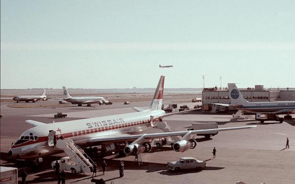 DC 8 swiss air NYC