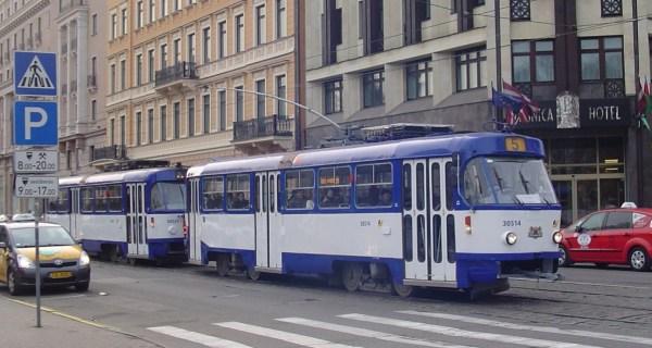 Riga Latvia tram