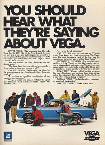 Vega 1971 -ad