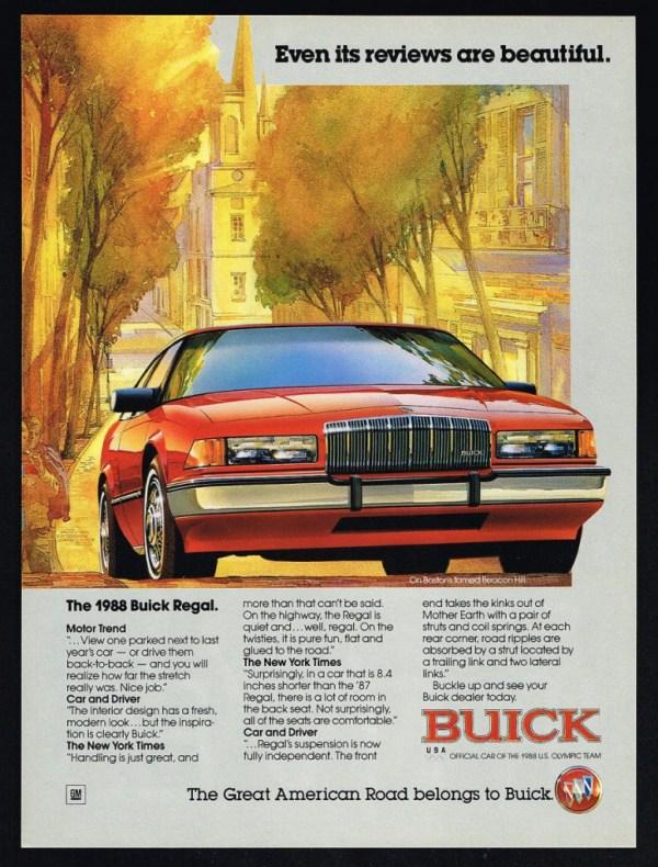 1988 Buick Regal Ad