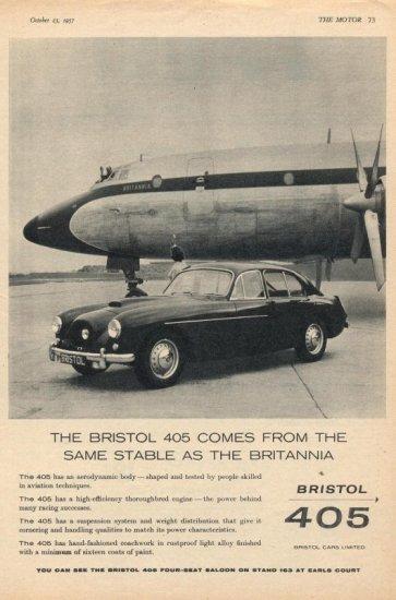 Bristol 405 advert 3