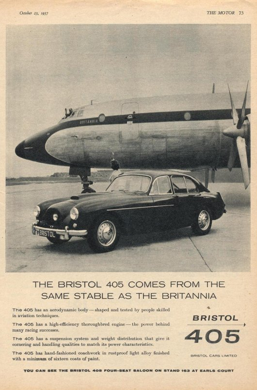 Bristol 405 advert 3