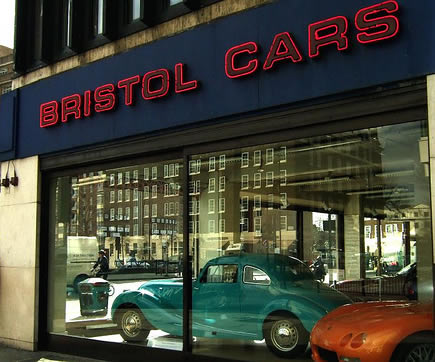 Bristol Cars showroon