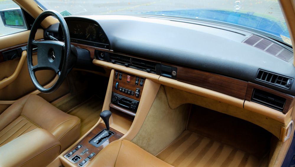 Inside The Creme Beige Leather Has Survived In That Way Only Old Mercedes Interiors Do Not It Been Particularly Taxed You Understand