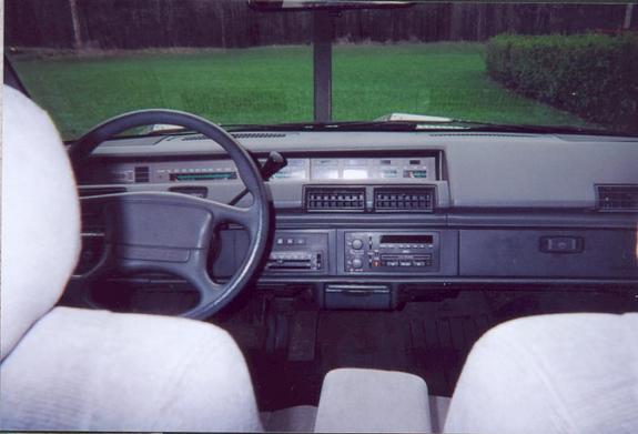 Pontiac 1991 6000 dash