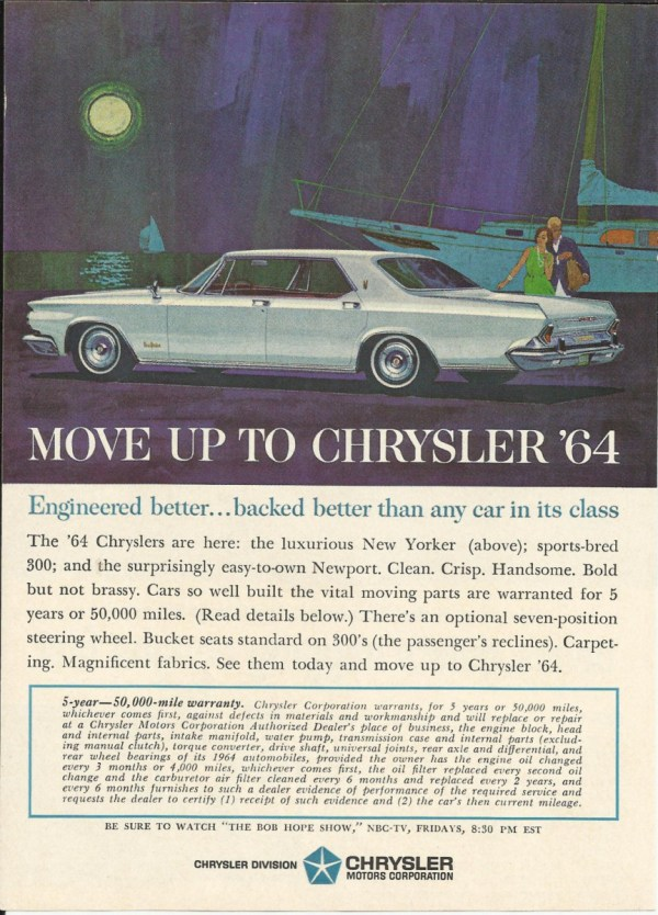 vintage chrysler 1964 ad