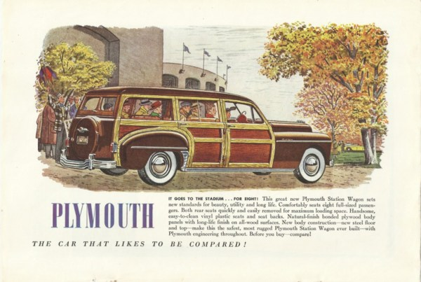 vintage plymouth ad 1950