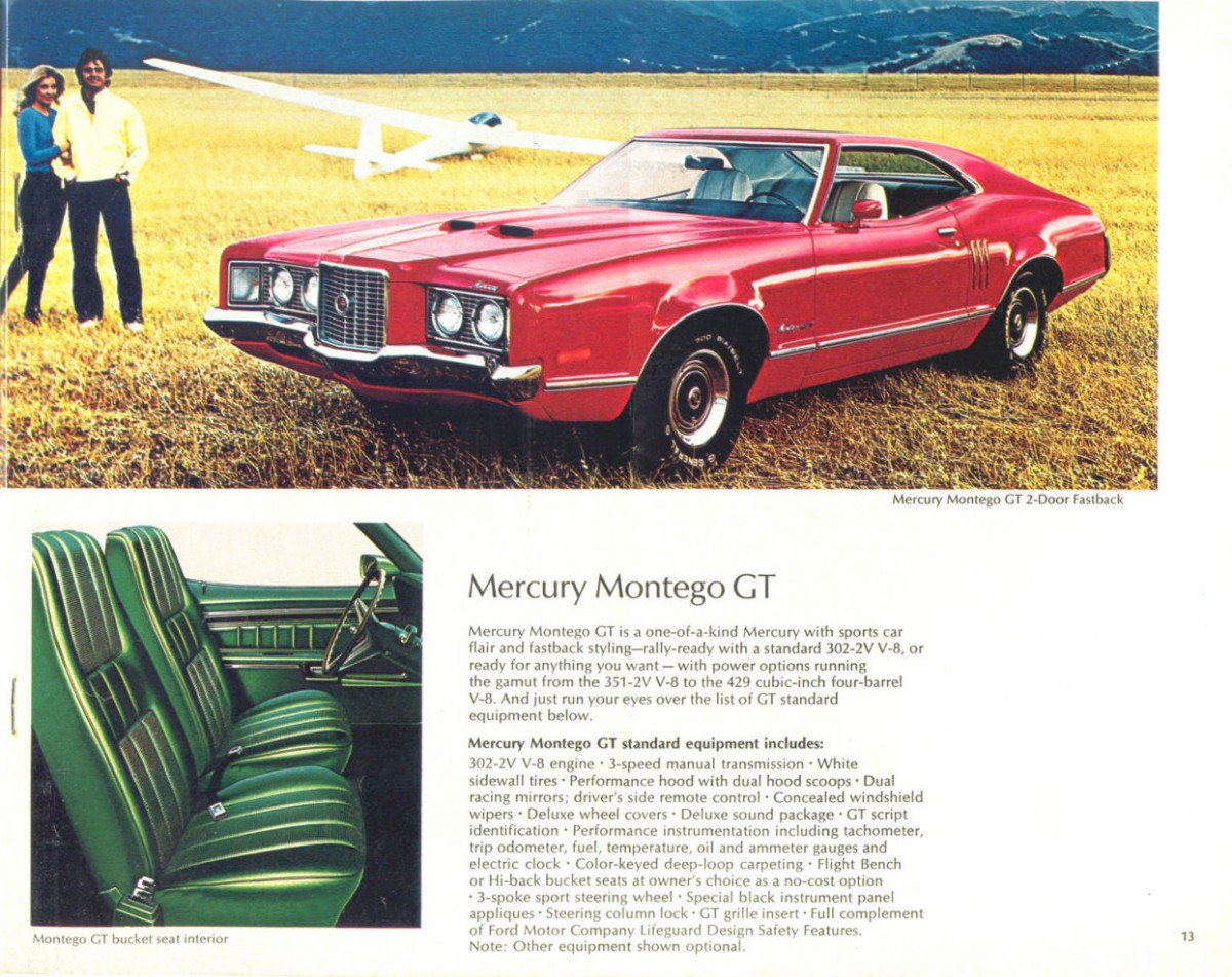 1972 mercury montego n code 429 restomod motorcycle custom - 1972 Mercury 13 Meant As The Sporty Offering In The Brand S Midsize Line Up The Gt S True Nature Is Revealed By Those Hips Which Don T Lie