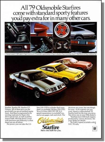 1979 oldsmobile starfire ad