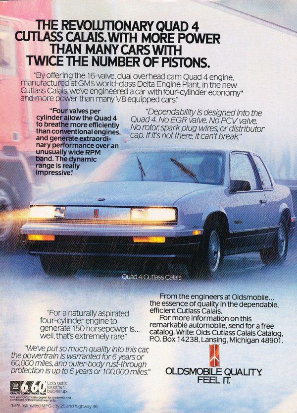 1987 oldsmobile calais quad 4