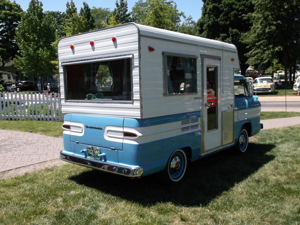 Car Show Capsule: 1963 Chevrolet Corvair Rampside Camper–A