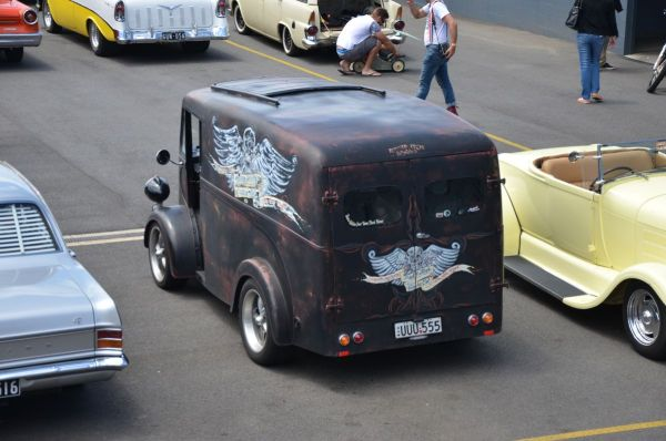 J-type van from rear