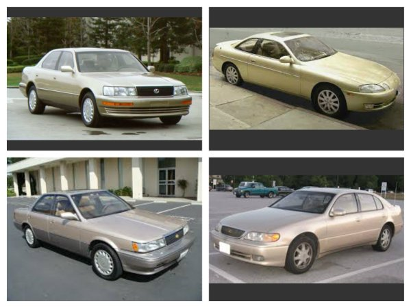 The main competition for the 1991 Model Year: Lexus Edition