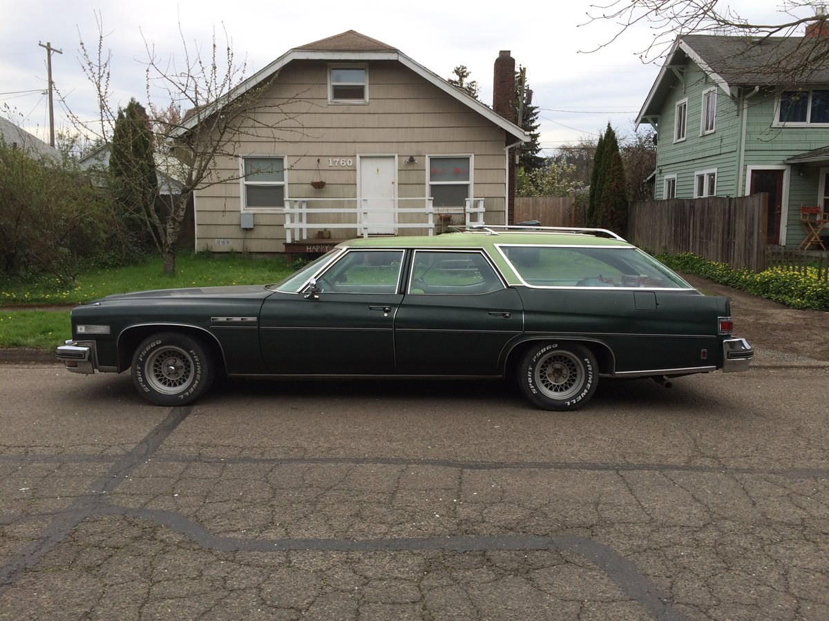 curbside classic 1975 buick estate wagon the ultimate american station wagon. Black Bedroom Furniture Sets. Home Design Ideas