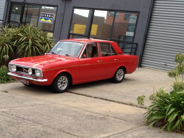 Ford Cortina GT red mk2 side   Jim T