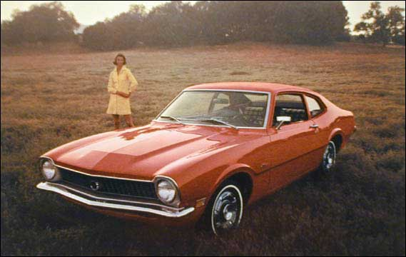 Ford Maverick 1970 red ad