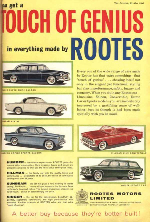 1960 Rootes advert