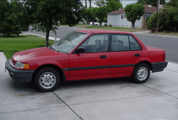 Honda 1990 civic red