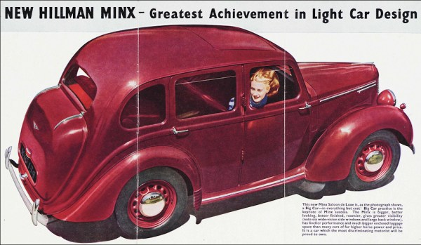 1946 hillman minx ad