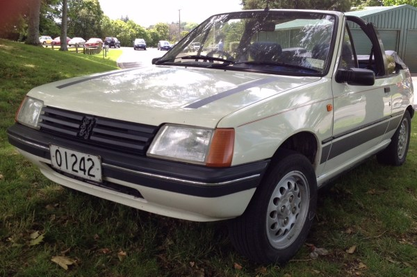 1989 Peugeot 205 CL convertible, white fl