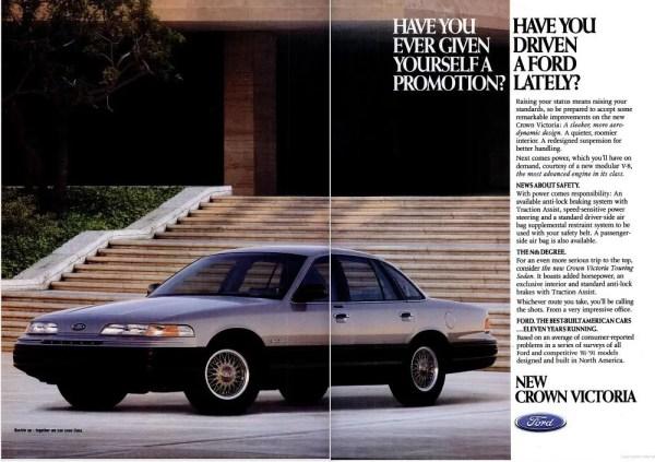 1992 Ford CrownVic TouringSedan Ad