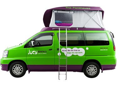 20 15 August. Categories: Car Rental, Featured, Trip Report For my latest California road trip—mostly through the Monterey Peninsula and down Big Sur—I experienced the funness of a JUCY campervan. JUCY is a New Zealand company that started operating in California about 5 years ago.