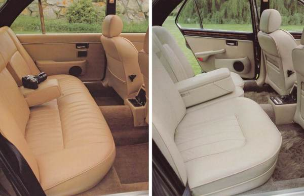 XJ6 Brochure Interior Comparison