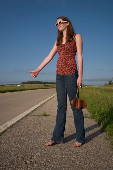 hitchhiker girl