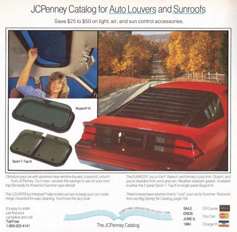 Ad 1984 JC Penney Louvers