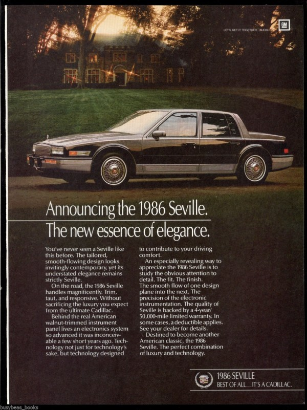 1986 cadillac seville ad