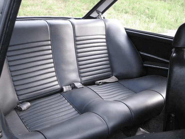 Fiat 1969 124 coupe back seat