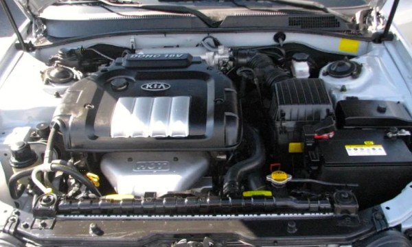 kia optima engine bay
