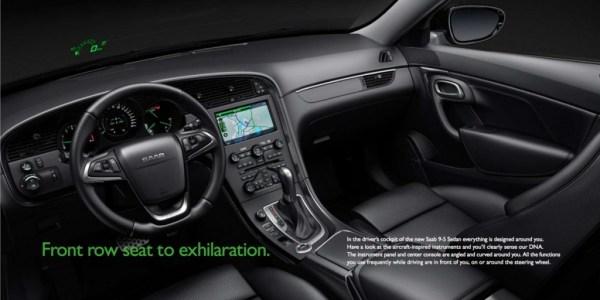 2011 Saab 9-5 instrument panel