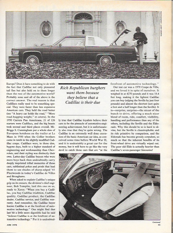Cadillac 1978 CD test 2