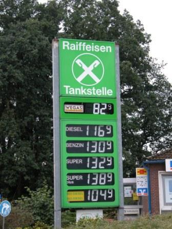 Europe gas pump prices
