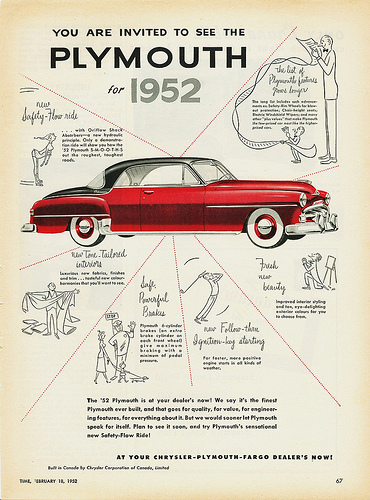 Plymouth 1952 ad