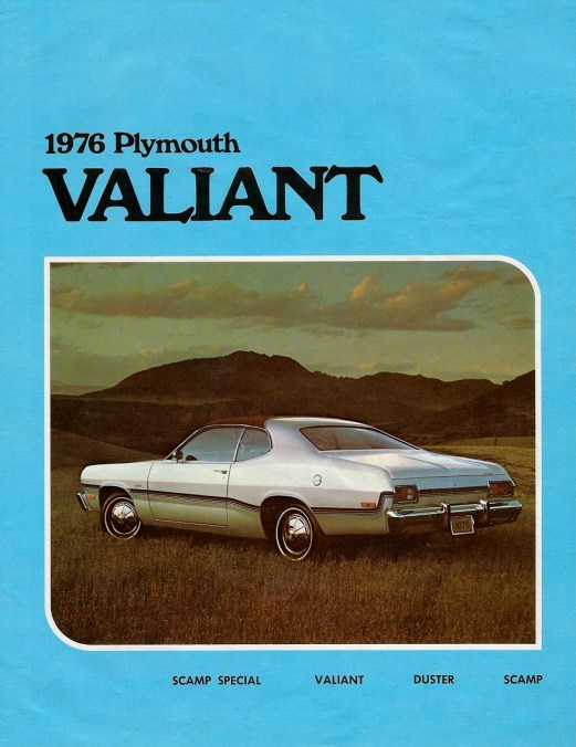 1976 plymouth valiant brochure silver duster