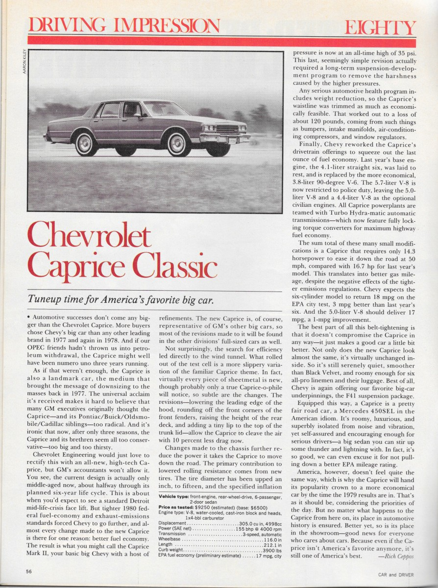 Vintage Review: 1980 Chevrolet Caprice – The Times They Are