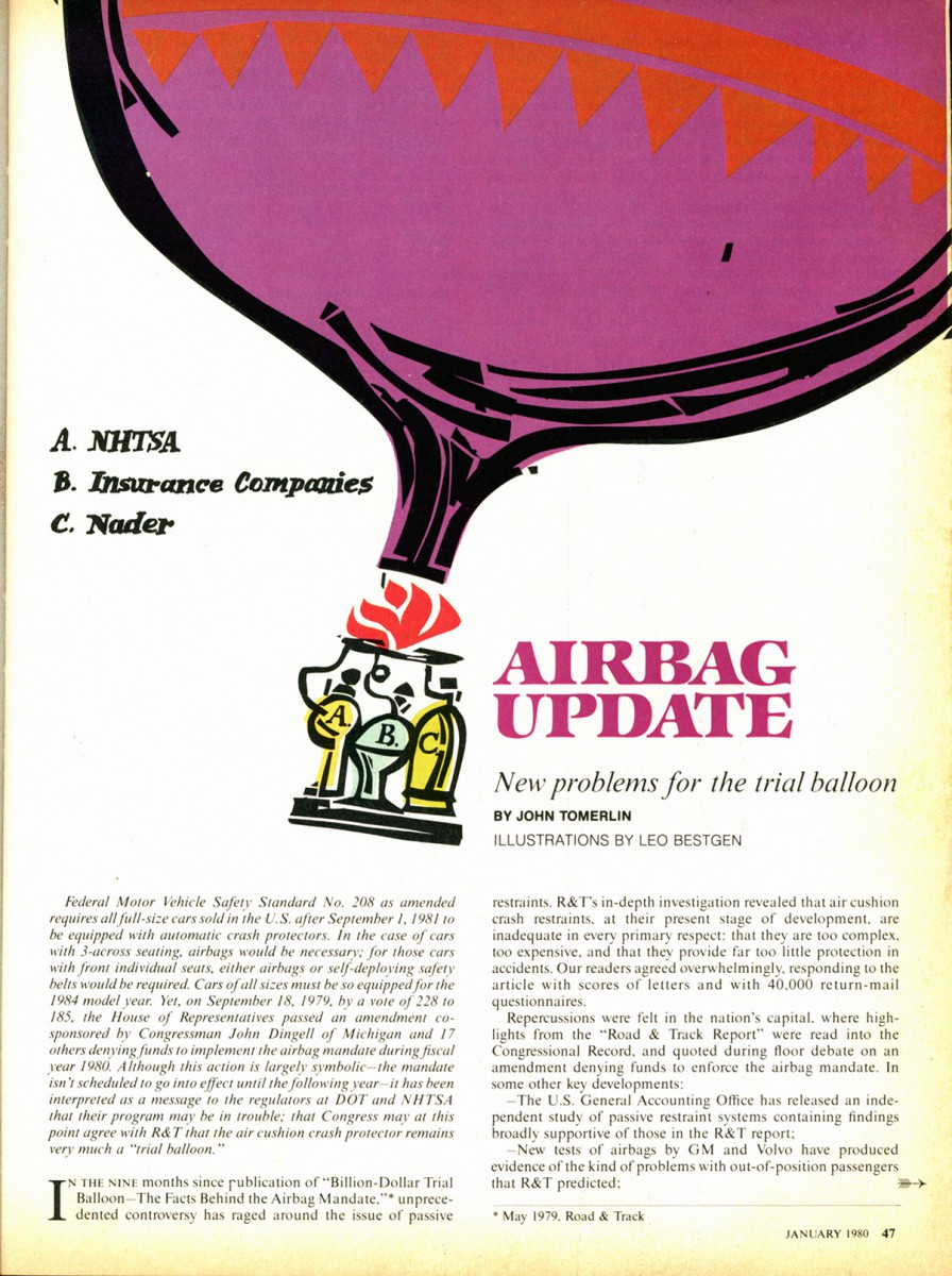 Vintage Road  Track Report The Facts Behind Airbags  Do We Need