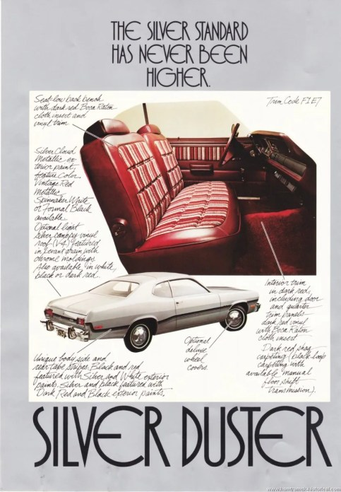plymouth silver duster ad