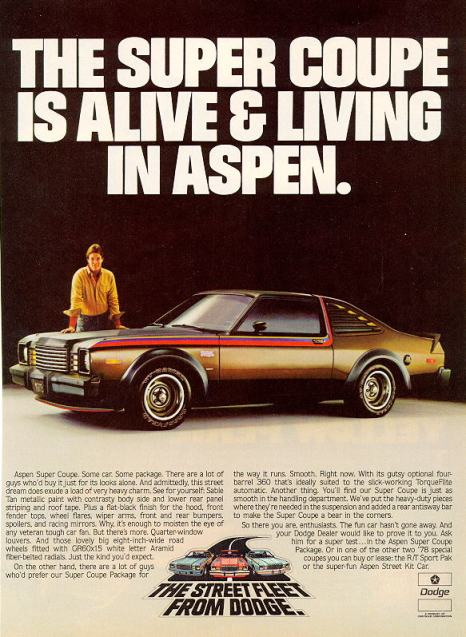1978 dodge aspen super coupe ad