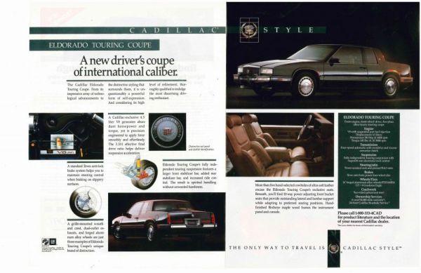 1990 cadillac eldorado touring coupe ad