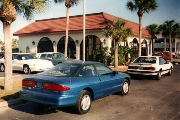 My Probe and Mustang, at Galeana Dealership, CC