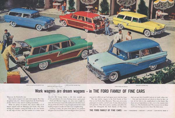 1956 ford wagons