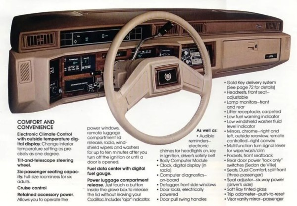 1988 Cadillac de Ville instrument panel dash