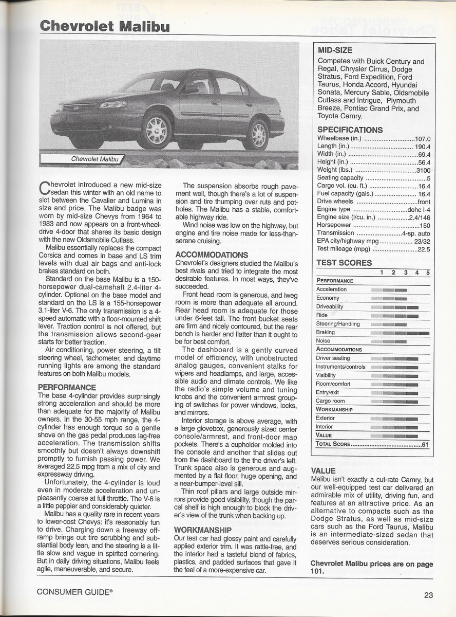 vintage review 1997 buick century consumer guide auto series rh curbsideclassic com Electric Cars Auto Loan