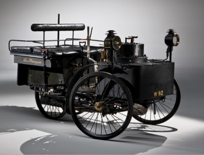 de dion bouton 1884 et trepardoux steam car410